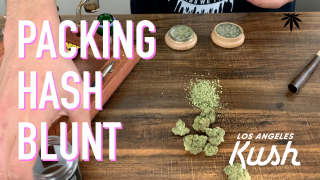 CHUCKIE FUEGO PACKS A HASH BLUNT WITH LA KUSH ILL OG