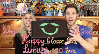 Happy Blaze Box Limited 420 Box Unboxing w/ GoStoner & Hazy Hula