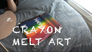 CRAYON MELT ART PROJECT