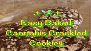 EASY to make Cannabis Crackled Cookies (from a brownie box mix)