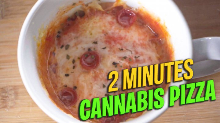 2 minutes Cannabis Pizza || How to make infused pizza || Quick and Easy
