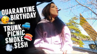 quarantine birthday vlog | trunk picnic at the lake | blunt_bae_