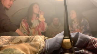 tent hotbox w friends!