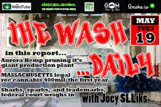 THE WASH ...DAILY withJoey SLLiks CANNABIS NEWS REPORT Massachusetts says bienvenue to the reefenue.