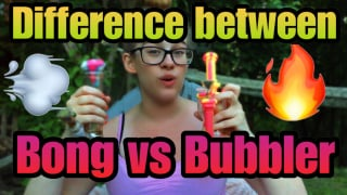 The difference between a Bong and Bubbler Smoke Sesh |Brittany Allison