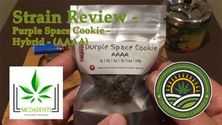 Purple Space Cookie (AAAA) from Tegridy Farms Cannabis - Strain Review