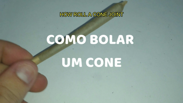 COMO BOLAR UM CONE | HOW TO ROLL A CONE JOINT