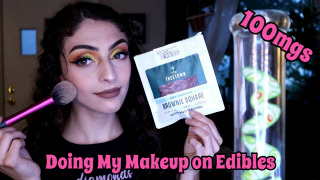 Doing My Makeup on Edibles 100mgs | Bakedbeauty420