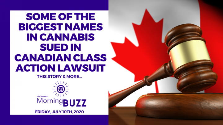 SOME OF THE BIGGEST NAMES IN CANNABIS SUED IN CANADIAN CLASS ACTION LAWSUIT | TRICHOMES Morning Buzz