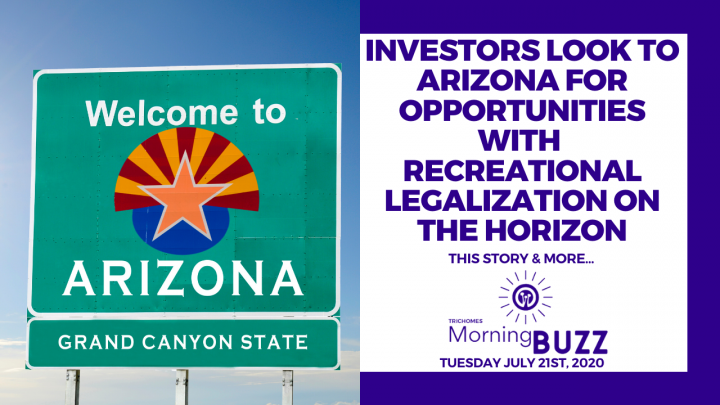 INVESTORS LOOK TO ARIZONA FOR OPPORTUNITIES IN RECREATIONAL CANNABIS | TRICHOMES Morning Buzz