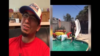 Dudley sent me a Vidja: Pool Slide
