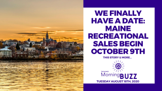 MAINE RECREATIONAL CANNABIS SALES BEGIN OCTOBER 9TH | TRICHOMES Morning Buzz