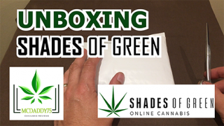 Unboxing - My SHADES OF GREEN Package - Mail Order Marijuana