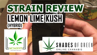 Lemon Lime Kush from Shades Of Green - Strain Review