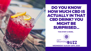 STUDY SHOWS CANNABIS DRINKS MAY BE MISLEADING W/ HOW MUCH CBD THEY CONTAIN | TRICHOMES Morning Buzz