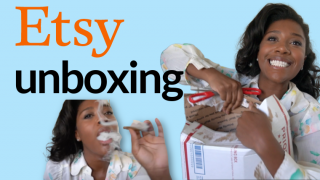 Etsy Vintage Dress Unboxing   Smoke a blunt with me :)