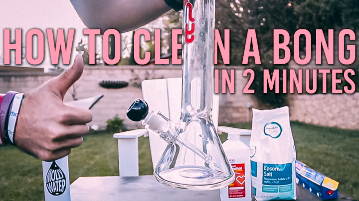 HOW TO CLEAN A BONG | in 2 minutes