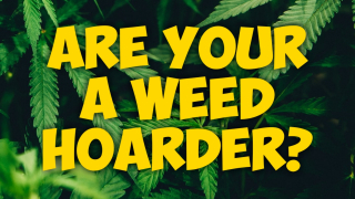 Are you a weed horader? Me toooo