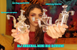 MJ Arsenal Mini Rig Review! | Bakedbeauty420