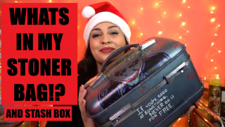 What's In My Stoner Bag and Stash Box | Vlogmas day 12
