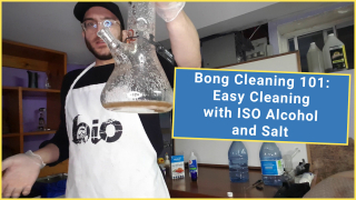 Bong Cleaning 101: Easy Cleaning with ISO Alcohol and Salt