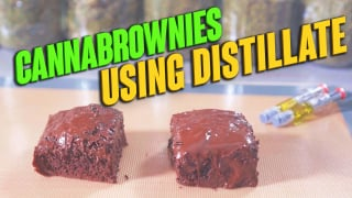 How to make CannaBrownies using distillate